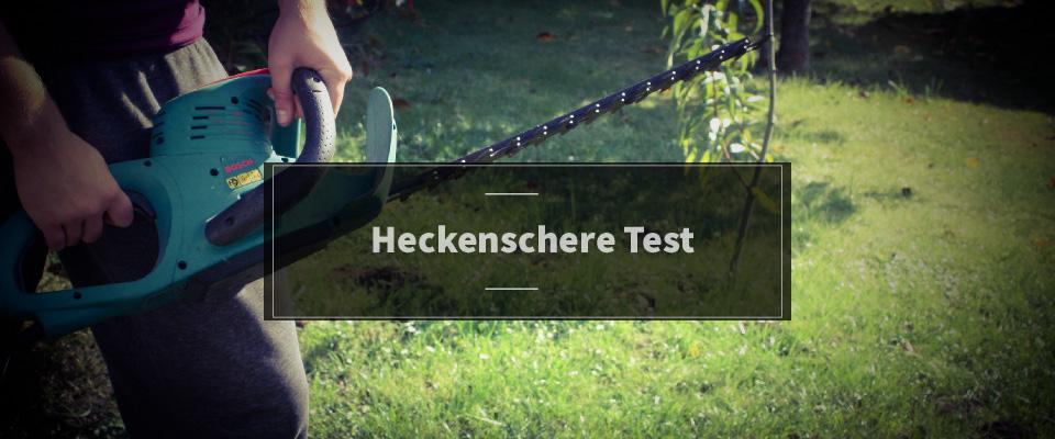 Heckenschere Test
